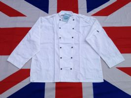 ## NEW ## MILITARY LE CHEFS WHITE JACKET